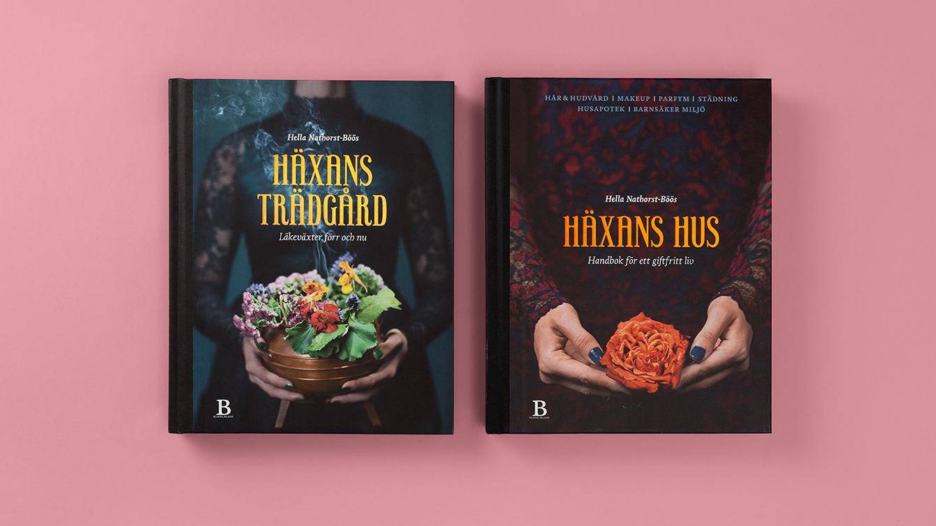 Böckerna Häxans hus och Häxans trädgård.