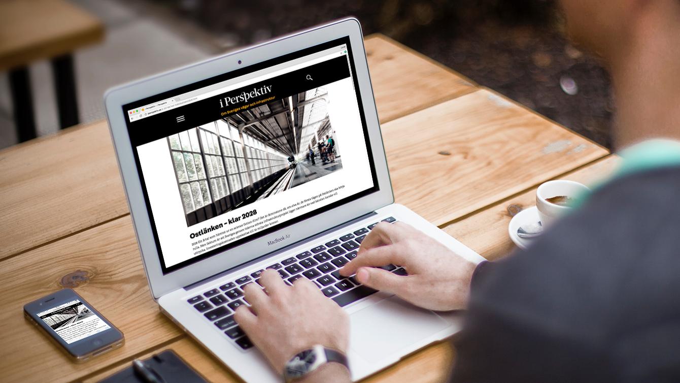 Webbplatsen I perspektiv från Svevia.