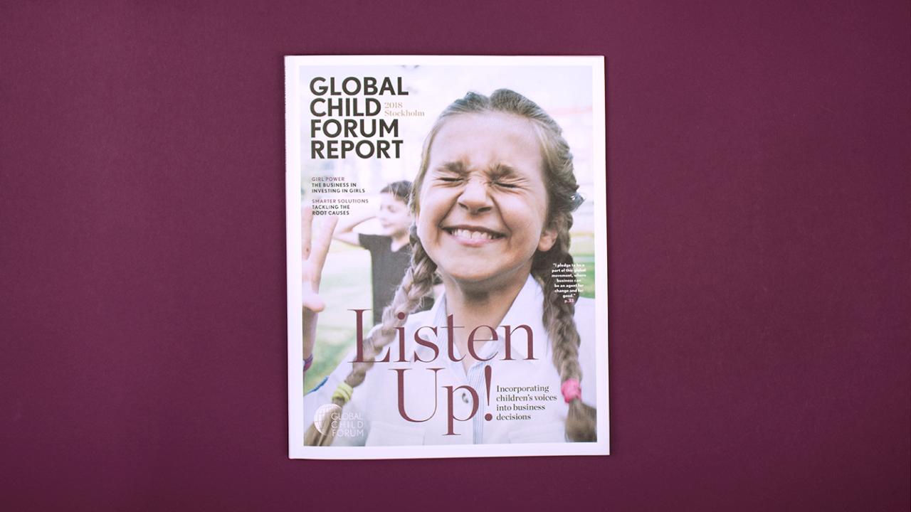 Omslag Global Child Forum rapport 2018.