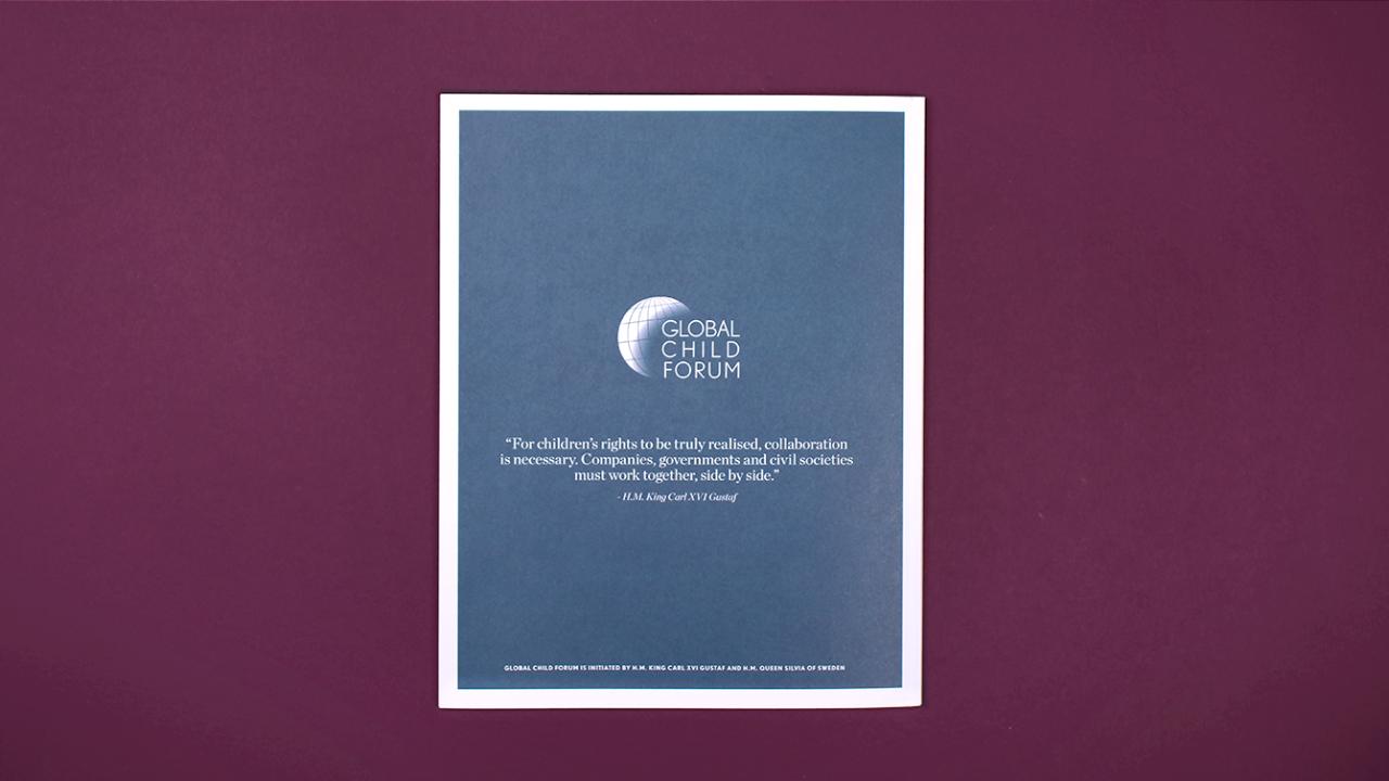 Baksida Global Child Forum rapport 2018.